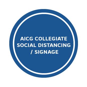 AICG Collegiate Social Distancing / Signage